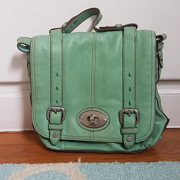 Fossil Bags | Mint Green Leather Crossbody